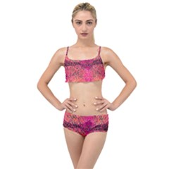 New Wild Color Blast Purple And Pink Explosion Created By Flipstylez Designs Layered Top Bikini Set