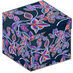New Beautiful Purple Pink Green Mosaic Flowers Created By Flipstyle Designs Storage Stool 12