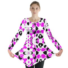 New Retro Spring Ladybugs Created By Flipstylez Designs Long Sleeve Tunic  by flipstylezdes