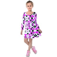 New Retro Spring Ladybugs Created By Flipstylez Designs Kids  Long Sleeve Velvet Dress