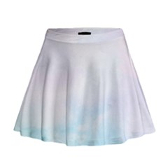 Pastel Pink And Blue Ombre Mini Flare Skirt