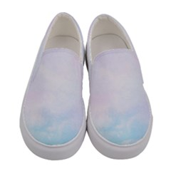 Pastel Pink And Blue Ombre Women s Canvas Slip Ons