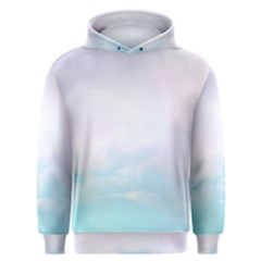 Pastel Pink And Blue Ombre Men s Overhead Hoodie