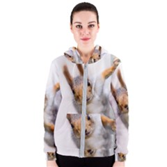 Curious Squirrel Women s Zipper Hoodie