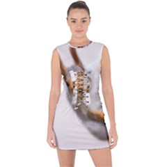 Curious Squirrel Lace Up Front Bodycon Dress by FunnyCow