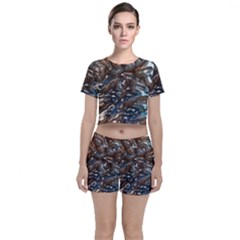 Melted Metal                                  Crop Top And Shorts Co Ord Set