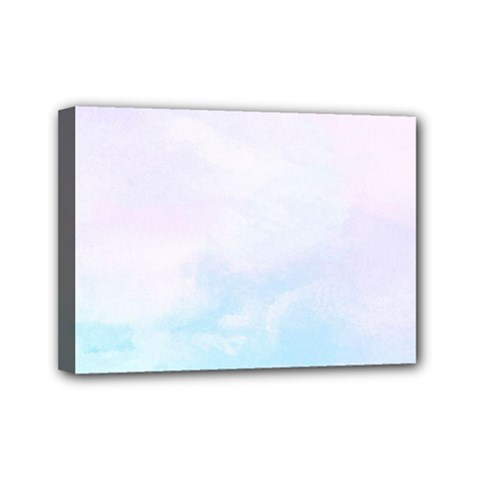 Pastel Pink And Blue Ombre Mini Canvas 7  X 5