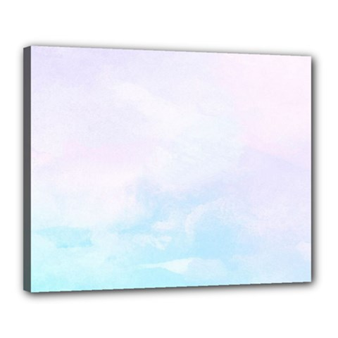 Pastel Pink And Blue Ombre Canvas 20  X 16