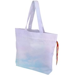 Pastel Pink And Blue Ombre Drawstring Tote Bag by CrypticFragmentsColors