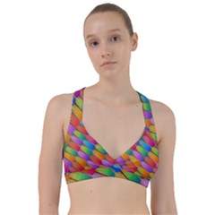 Colorful Textured Shapes Pattern                                          Sweetheart Sports Bra