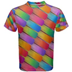 Colorful Textured Shapes Pattern                                      Men s Cotton Tee