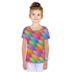 Colorful Textured Shapes Pattern                                       Kids  One Piece Tee