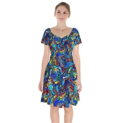 F 3 Short Sleeve Bardot Dress