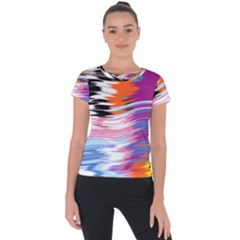 Waves                              Short Sleeve Sports Top
