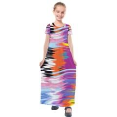 Waves                                  Kids  Short Sleeve Maxi Dress
