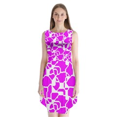 Series In Pink B Sleeveless Chiffon Dress