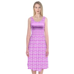 Series In Pink D Midi Sleeveless Dress