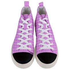 Series In Pink D Men s Mid Top Canvas Sneakers