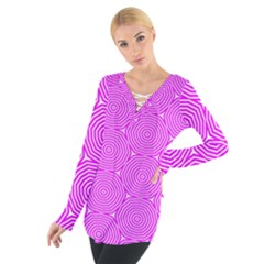 Series In Pink E Tie Up Tee