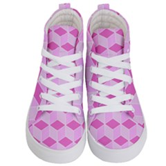 Series In Pink F Kid s Hi Top Skate Sneakers