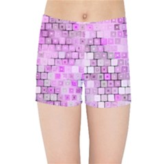 Series In Pink G Kids Sports Shorts