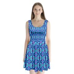 F 4 1 Split Back Mini Dress