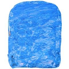 Ocean Blue Waves Abstract Cobalt Full Print Backpack