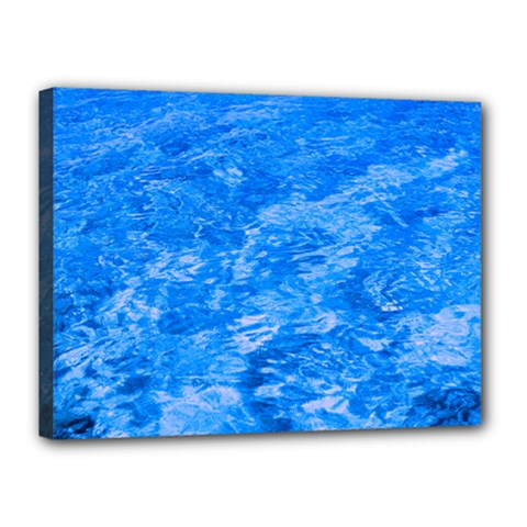 Ocean Blue Waves Abstract Cobalt Canvas 16  X 12