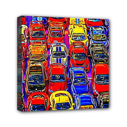 Colorful Toy Racing Cars Mini Canvas 6  X 6