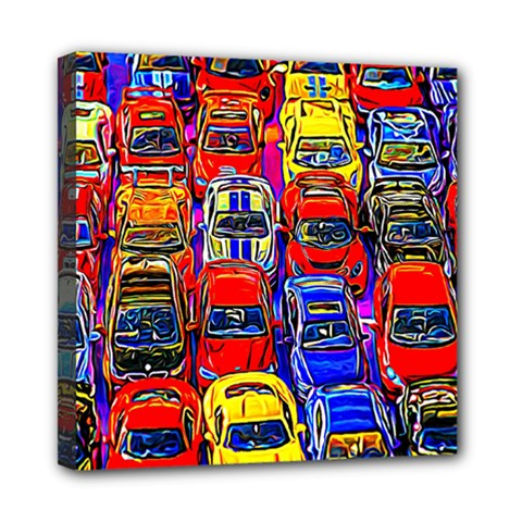 Colorful Toy Racing Cars Mini Canvas 8  X 8  by FunnyCow