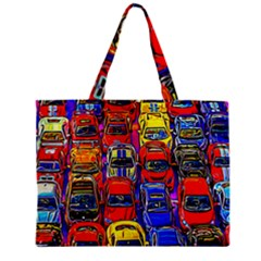 Colorful Toy Racing Cars Mini Tote Bag by FunnyCow