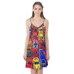 Colorful Toy Racing Cars Camis Nightgown