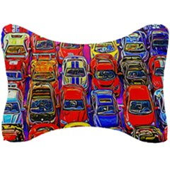 Colorful Toy Racing Cars Seat Head Rest Cushion by FunnyCow