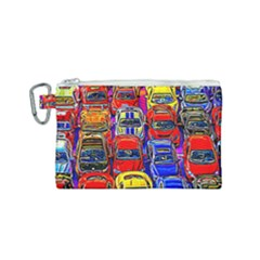 Colorful Toy Racing Cars Canvas Cosmetic Bag (small) by FunnyCow