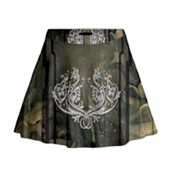 Wonderful Decorative Dragon On Vintage Background Mini Flare Skirt