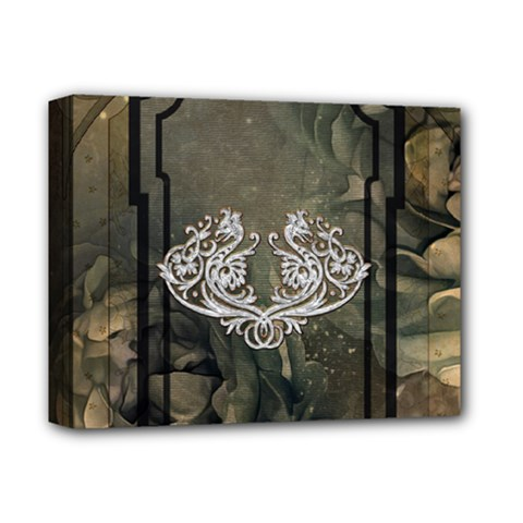 Wonderful Decorative Dragon On Vintage Background Deluxe Canvas 14  X 11  by FantasyWorld7