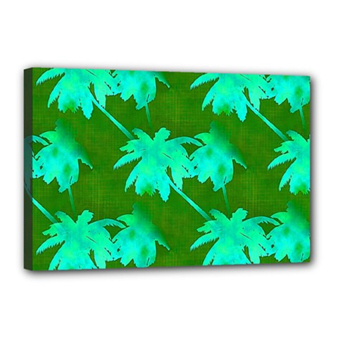 Palm Trees Island Jungle Canvas 18  X 12