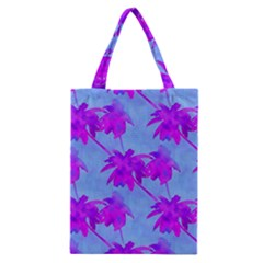 Palm Trees Caribbean Evening Classic Tote Bag by CrypticFragmentsColors