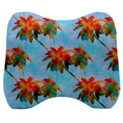 Palm Trees Sunset Glow Velour Head Support Cushion by CrypticFragmentsColors