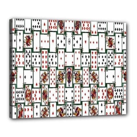 Cards Canvas 20  X 16