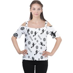 Witches And Pentacles Cutout Shoulder Tee by IIPhotographyAndDesigns