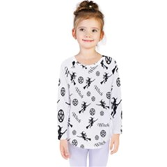 Witches And Pentacles Kids  Long Sleeve Tee by IIPhotographyAndDesigns