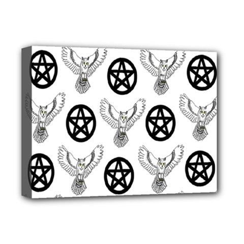 Owls And Pentacles Deluxe Canvas 16  X 12