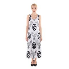 Owls And Pentacles Sleeveless Maxi Dress by IIPhotographyAndDesigns
