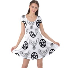 Owls And Pentacles Cap Sleeve Dress by IIPhotographyAndDesigns