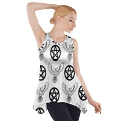 Owls And Pentacles Side Drop Tank Tunic by IIPhotographyAndDesigns