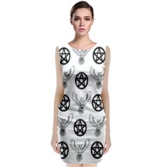 Owls And Pentacles Classic Sleeveless Midi Dress by IIPhotographyAndDesigns