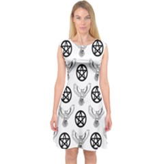 Owls And Pentacles Capsleeve Midi Dress