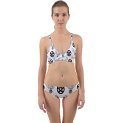 Owls And Pentacles Wrap Around Bikini Set by IIPhotographyAndDesigns