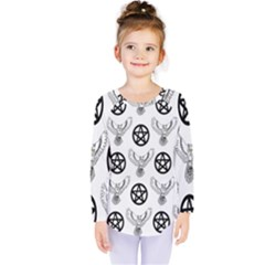 Owls And Pentacles Kids  Long Sleeve Tee by IIPhotographyAndDesigns
